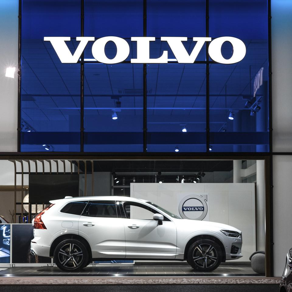 New Volvo Retail Experience and corporate logo image by Visotec