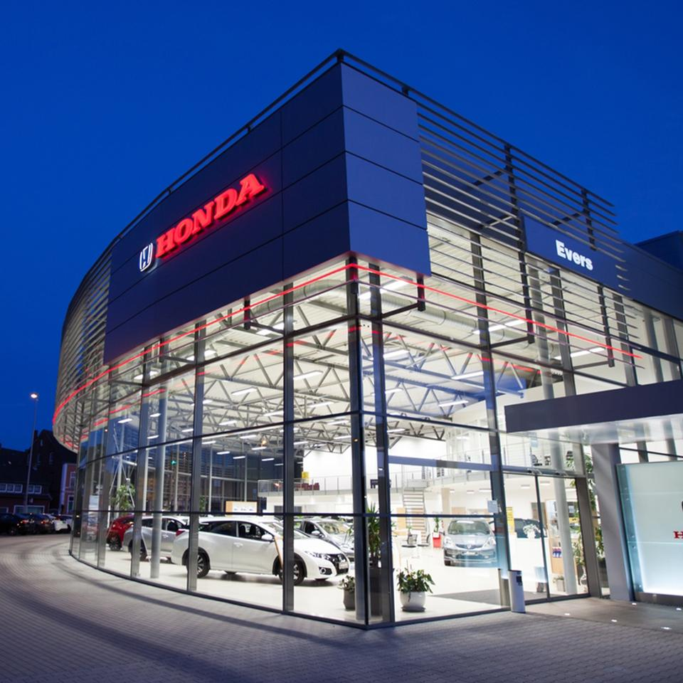 Details of the new Honda dealership by Visotec
