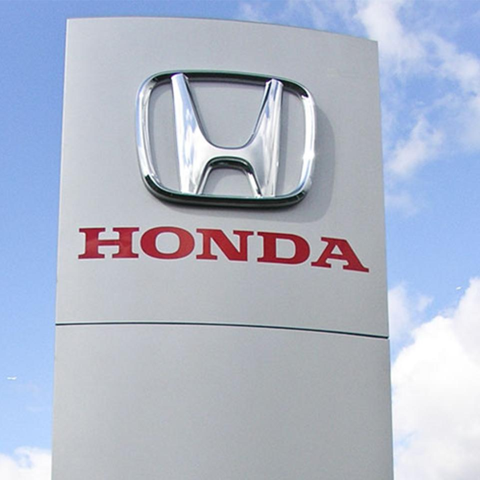 Close-up of the Honda totem by Visotec