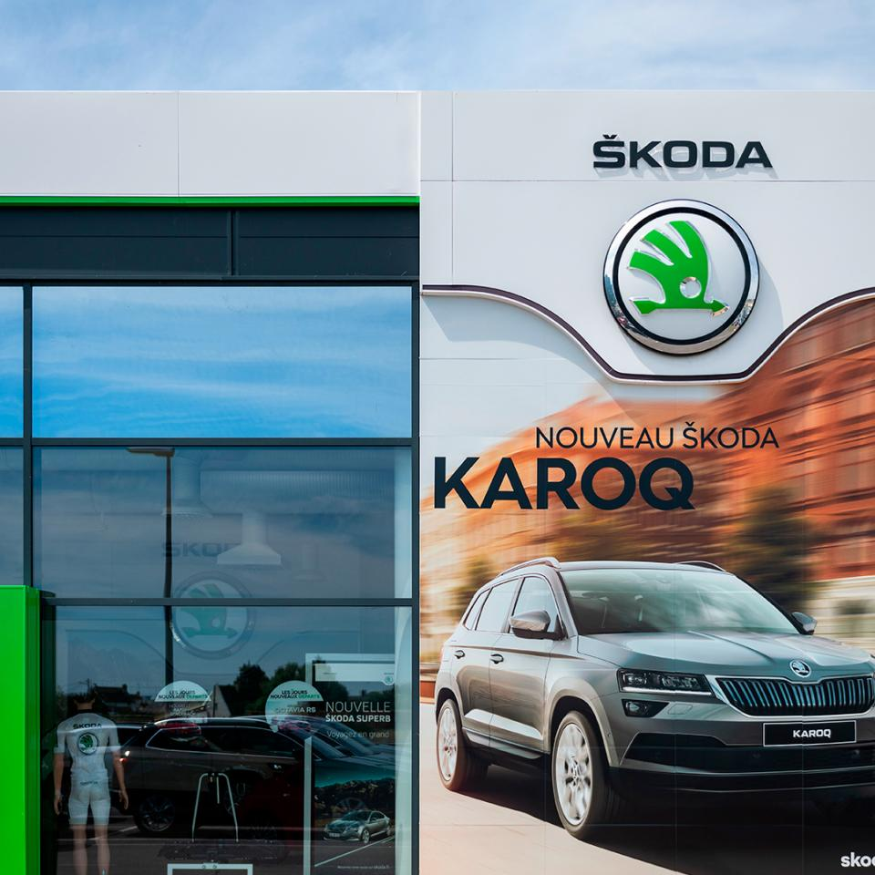 The new SKODA identity, between signage and architecture